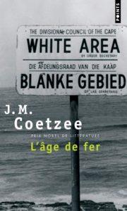 Première de couverture de L'Âge de fer - J. M. Coetzee
