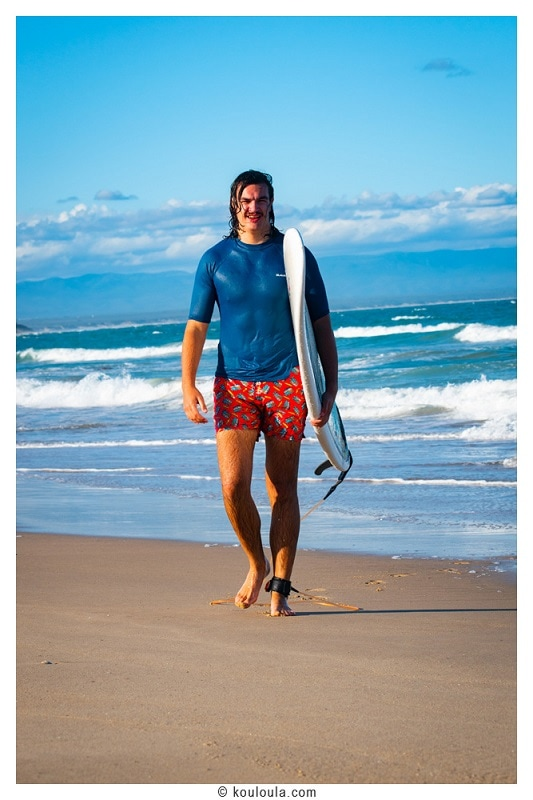 Surfer en Afrique du Sud