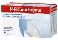 MERCUROCHROME Compresses Stériles 20 cm x 20 cm 60 Unités pour voyager en Afrique