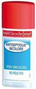 MERCUROCHROME Spray Antiseptique Incolore 100 ml pour voyager en Afrique
