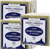 De la marque Marius Fabre - SAVON DE MARSEILLE - l'Huile d'Olive Cube de 400 Gr - Lot de 3 Cubes 400 Gr