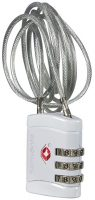 Samsonite Global Travel Accessories - Cadenas TSA à 3 chiffres avec Cable, 60 cm, Gris (Alu) pour voyager en Afrique du Sud
