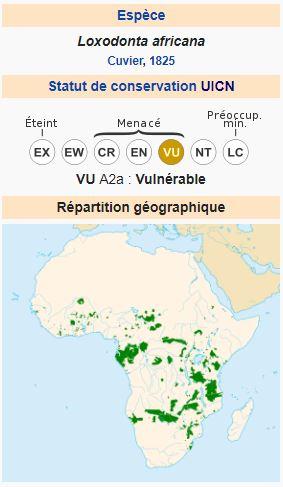 La carte Wikipédia, Eléphant d'Afrique
